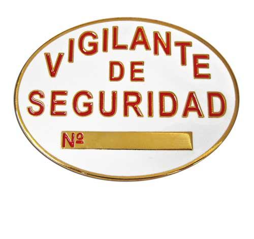 plata de vigilante de seguridad