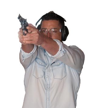 alumno en practias de tiro