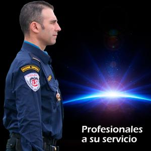 vigilante de seguridad uniformado