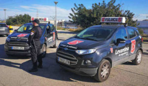 vehículos patrulla levantina de seguridad
